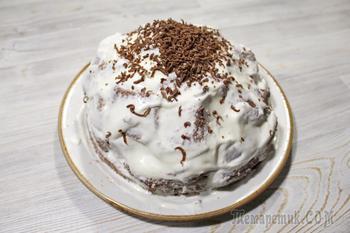 Торт Панчо. Сочный, шоколадный торт с ананасом и сметанным кремом