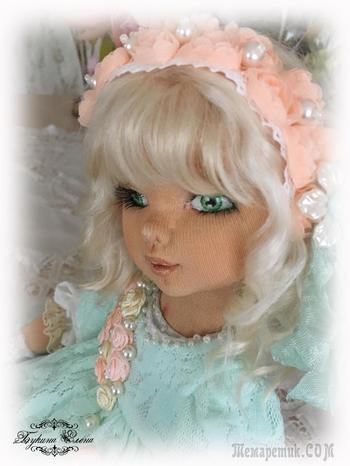 Коллекционная полностью текстильная куколка