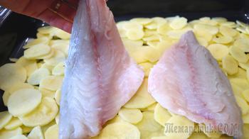Рыба с картофелем в духовке // Рецепт дорадо в духовке