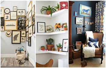 Как сделать полезными и красивыми все углы в доме