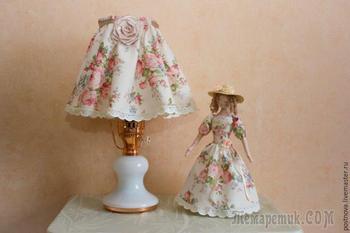 Создаем интерьерную композицию в стиле шебби шик из старинной лампы и коробки