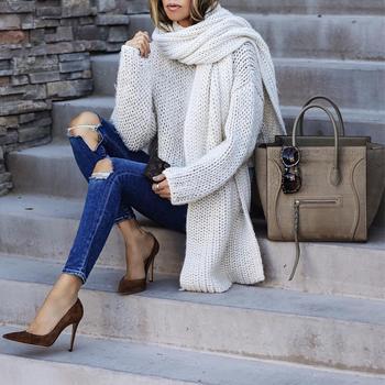 Белый свитер: 30 самых элегантных идей для любого случая