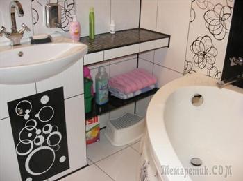 Ванная: совмещенный санузел разделили, туалет перенесли в кладовую