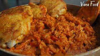 Рис с курицей в одной сковородке. Ужин за 30 минут!