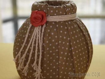 Превращаем баночку в симпатичную вазочку