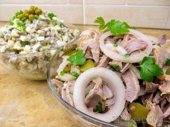 Бюджетно! Два салата из куриных желудочков на Новый Год!