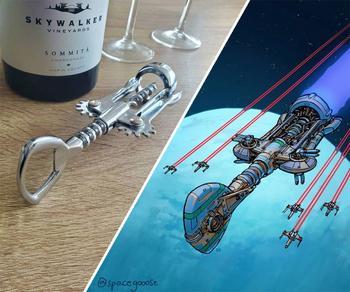 Новые космические корабли Эрика Геуша, вдохновлённые повседневными предметами