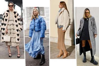 Как подобрать верхнюю одежду к платью