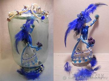 Творим зимнюю сказку. Декоративная статуэтка «Красавица Царица-зима»