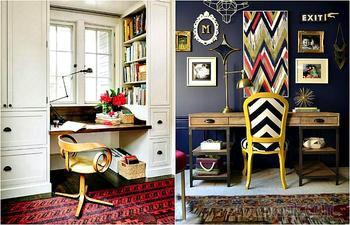 17 необычных идей, оформления стильного рабочего места в своем доме