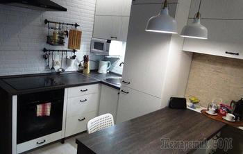 """Кухня: ремонт с """"ИКЕА"""" для лентяев и кота"""
