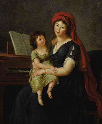 Французская художница Мари Элизабет Луиза Виже-Лебрен (1755-1842)