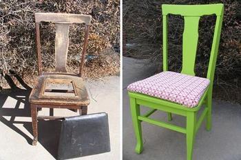 Примеры обновленных старых стульев