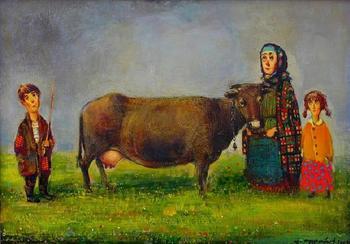 Любовь и солнечный свет в ярких картинах Ладо Тевдорадзе