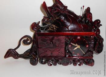 Мастерим каминные часы-шкатулку в славянском стиле