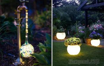 20 примеров садового освещения, с которым даже скромный участок покажется заморской виллой