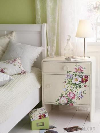 Декупаж мебели: идеи для создания атмосферы шебби-шик и прованса