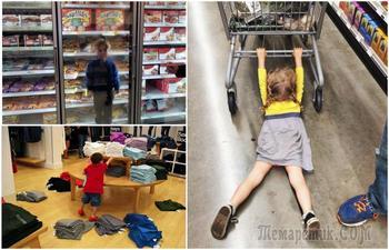 Забавные снимки о шопинге с детьми, которые не дадут спуску никому