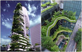 7 вертикальных садов по всему миру, которые могут превратить города в джунгли
