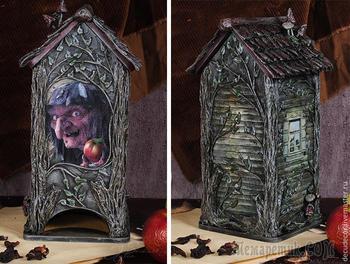 Баба Яга на все времена! Декорируем чайный домик