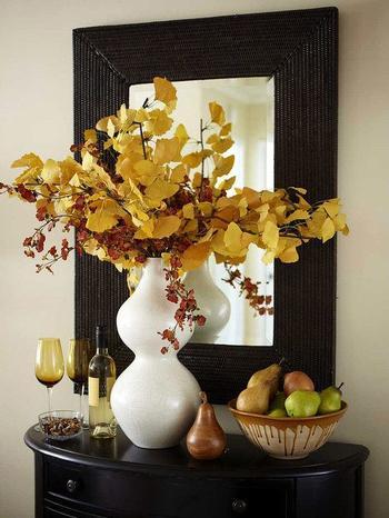 Букеты из листьев для украшения дома
