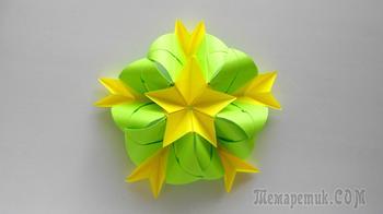 Мастерим яркий и красивый цветок из бумаги в технике оригами