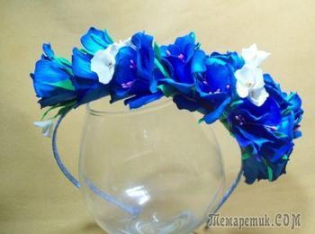 Как сделать ободок с цветами из фоамирана – мастер-класс с пошаговыми фото