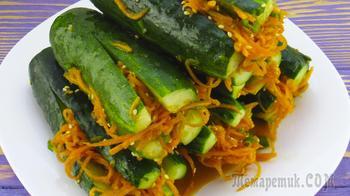 Закуска «Огурцы по-корейски». Покоряет сразу!