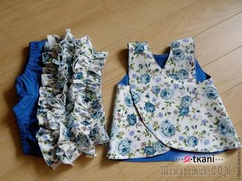 Шьем комплект для маленьких модниц «Летний сад»