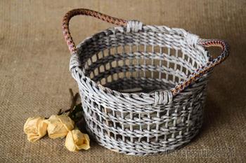 Плетение корзин из газетных трубочек: лучшие мастер-классы и советы для рукодельниц