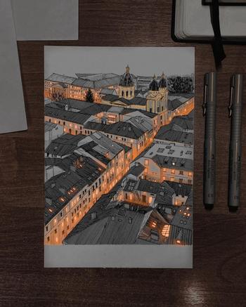 Завораживающие детализированные скетчи харьковского художника-самоучки