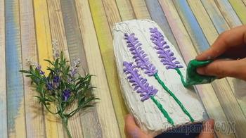 Рисуем объемные декор шпаклевкой. Или как сделать вазу из бутылки шампуня