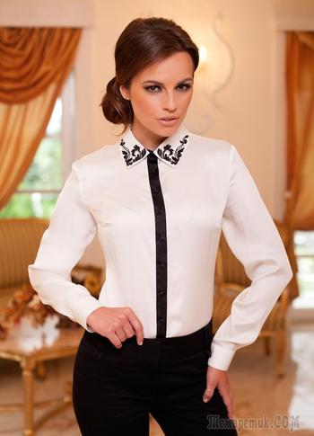 Стильные белые блузки — новинки и оригинальные модели