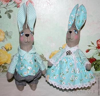 Шьём милых мятных кроликов