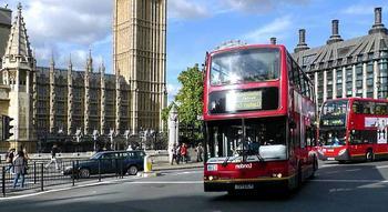 На автобусе!