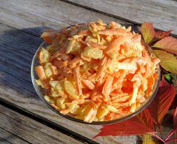 Морковный салат с ананасами! Покоряет с первой ложки!