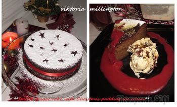 Апельсиновый торт (без глютена) с мороженым из Рождественского пудинга по рецепту Тома Керриджа