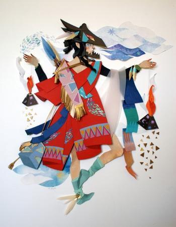 Многослойные бумажные картины Морганы Уоллес