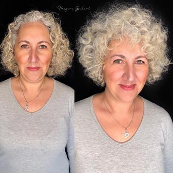 15 стрижек для дам старше 40 лет на волнистые волосы и вьющиеся волосы 2021