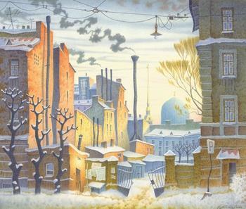 Питерский художник рисует акварели северной столицы, на которых город оживает