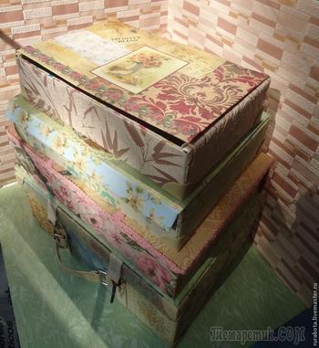 Винтажный чемодан своими руками