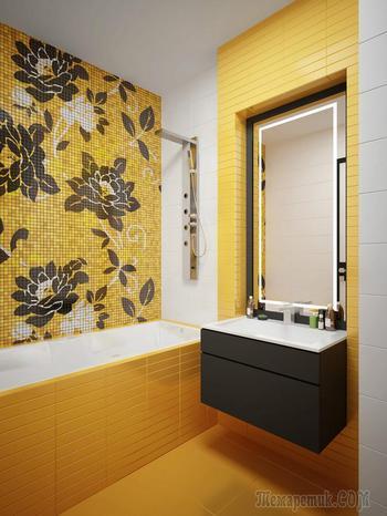 Желтая ванная: добавьте солнца в интерьер