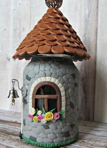 Как делать домики из полимерной глины