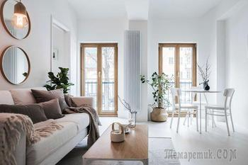 Небольшая, но просторная современная квартира в Швеции (37 кв. м)