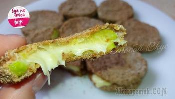 Хрустящие кружки из кабачков с сыром