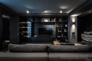 Темный интерьер квартиры в Киеве