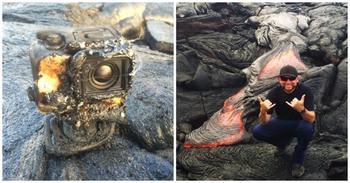Камера GoPro искупалась в лаве и сняла уникальные кадры