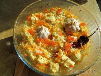 """""""Плов"""" без казана! Курица с рисом в духовке"""