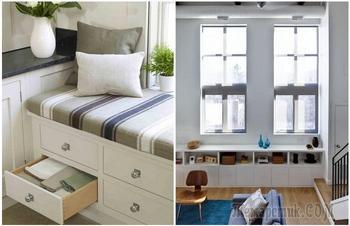 Не только для цветов: 8 идей использования подоконника, которые помогут добавить места в квартире