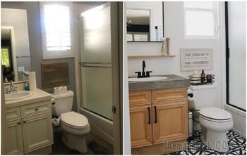 Как с минимальным бюджетом превратить скучную ванную в стильную комнату